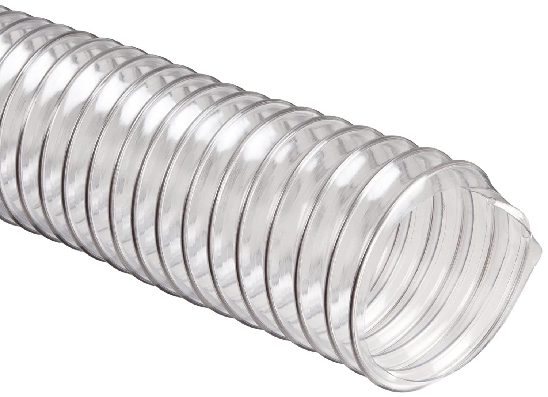 Flexadux R-2 PVC Duct Hose, Clear, 8