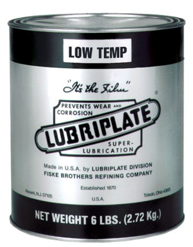 Lubriplate L0172-006 Calcium Type Grease, Low Temperature, 6 lb Cans (Pack of 6)