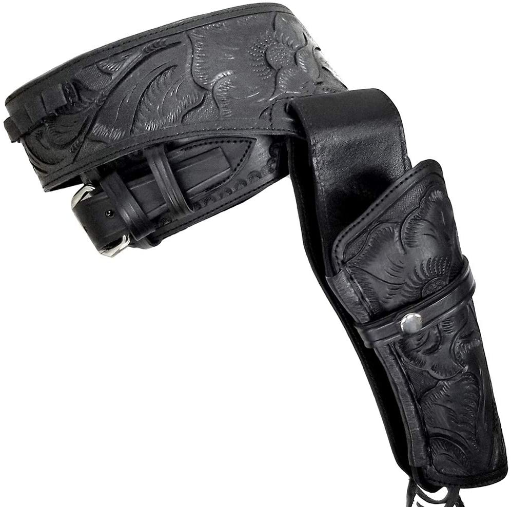 Modestone 44/45 Western Leather Holster Gun Belt Rig Revolver Black
