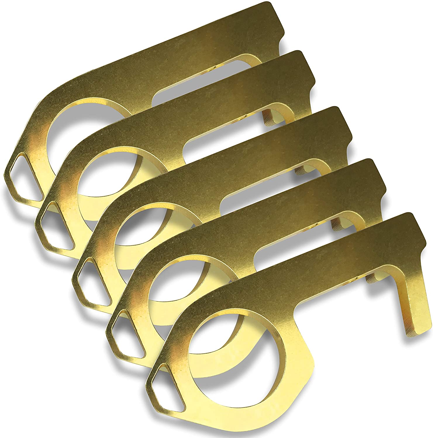 YouTheFan GermKey No Touch Brass Hand Tool Pack of 5