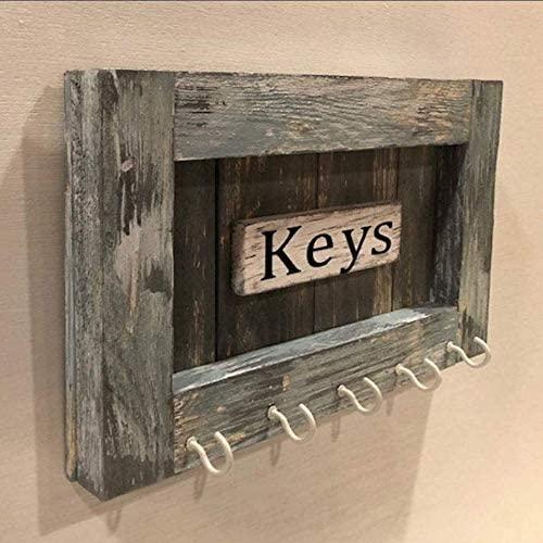 Personalized Key Rack Custom Wood Key Holder Coastal Farm House Key Hook, Rustic Wall Mounted, Housewarming Gift