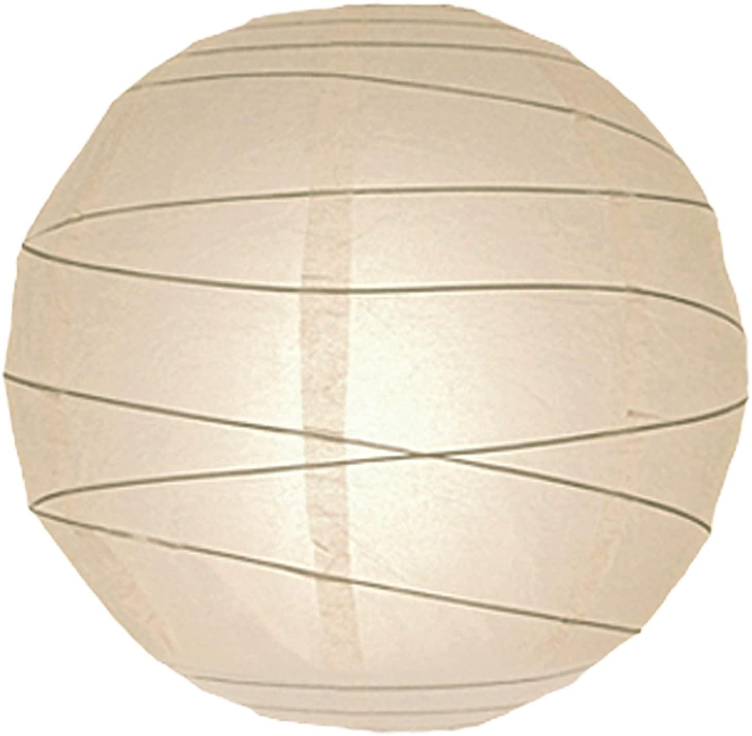 Lighting Web 16-inch Irregular Paper Lantern, Ivory