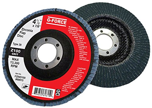 Griton FZ945100 Industrial Type 29 Abrasive Flap Disc, 4 1/2