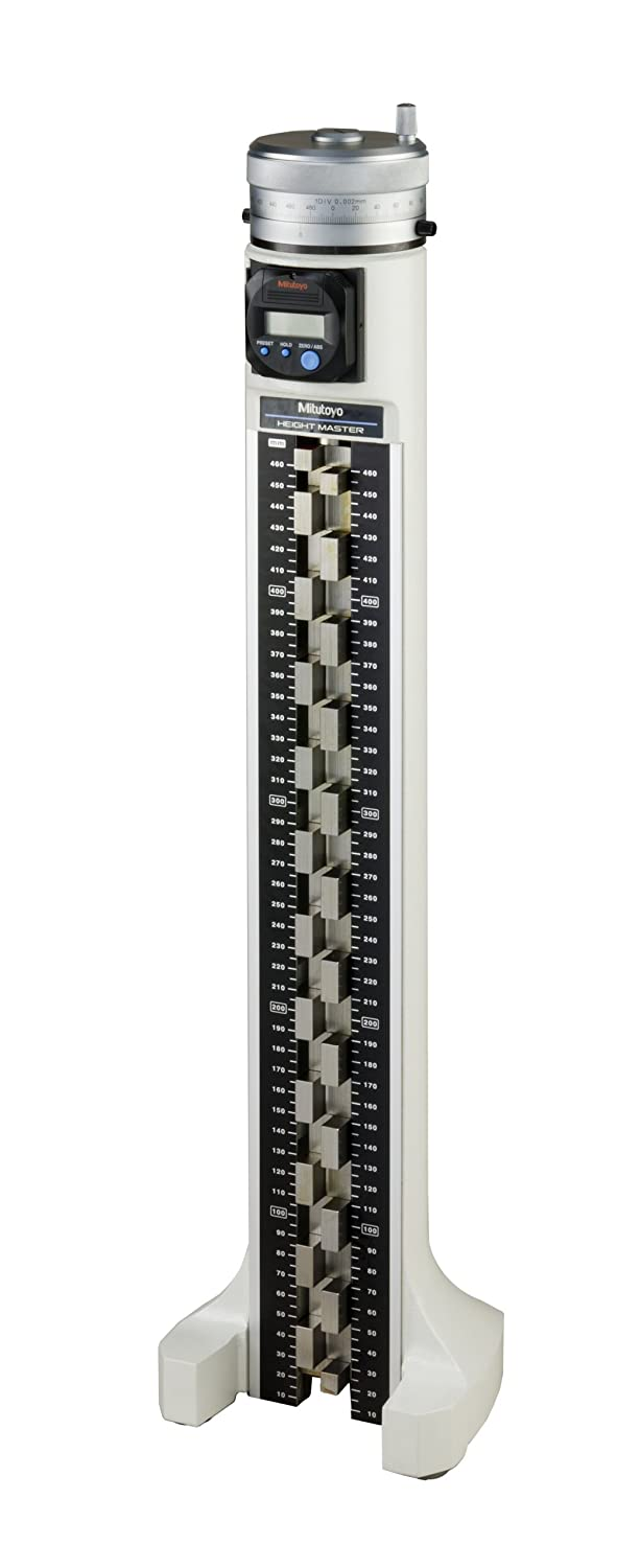 Mitutoyo 515-376 Digital Height Master, 10 < H ≤ 460 mm Input Range, 20 mm Staggered Block Step, 0.001 mm, with SPC Output