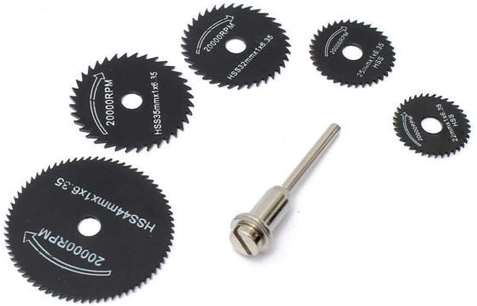 MLH-MLH 6pcs Metal HSS Circular Saw Blade Set Cutting Discs Fit for Rotary Tool Electrical Tools Blades