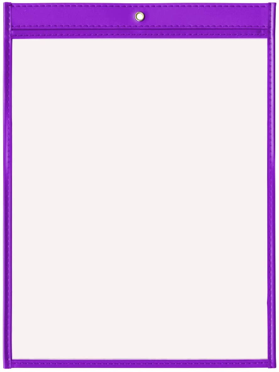 StoreSMART - Rigid Stitched Shop Ticket Holders - Purple - 10 Pack - 9 x 12 inches - Open Short Side - T85726S-P10