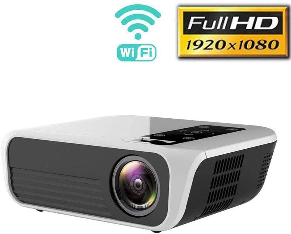 ZDMSEJ Portable Mini Projector 3000Lux, Full 1080P HD Video Upgraded, Compatible with Smartphones, USB/HDMI/AV/3.5MMearphone Input,Wireless Cable Simultaneous System