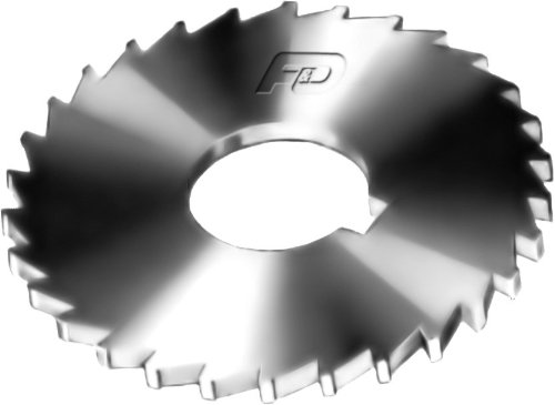 F&D Tool Company 14733 Plain Slitting Saw, High Speed Steel, 5