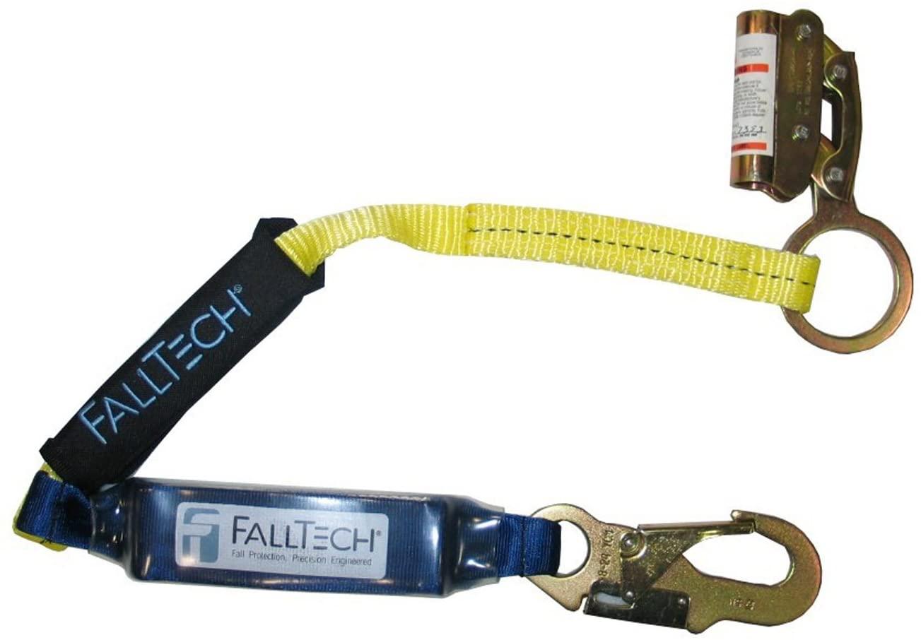 FallTech 8353LT Manual Grab with SoftPack 3-Foot Shock Absorbing Lanyard