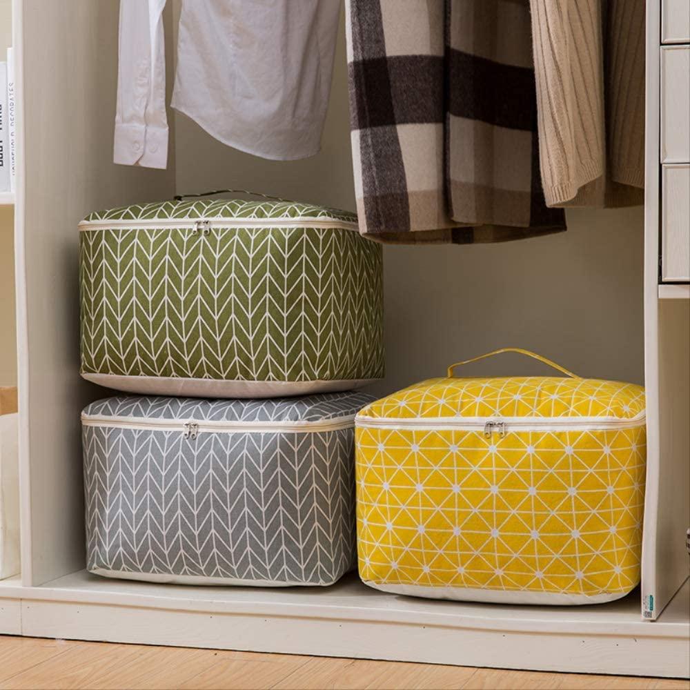 New Large Cotton Linen Folding Storage Bag Home Storage Organization Quert Toy Storage Box Clothing Organizer Travel Bag