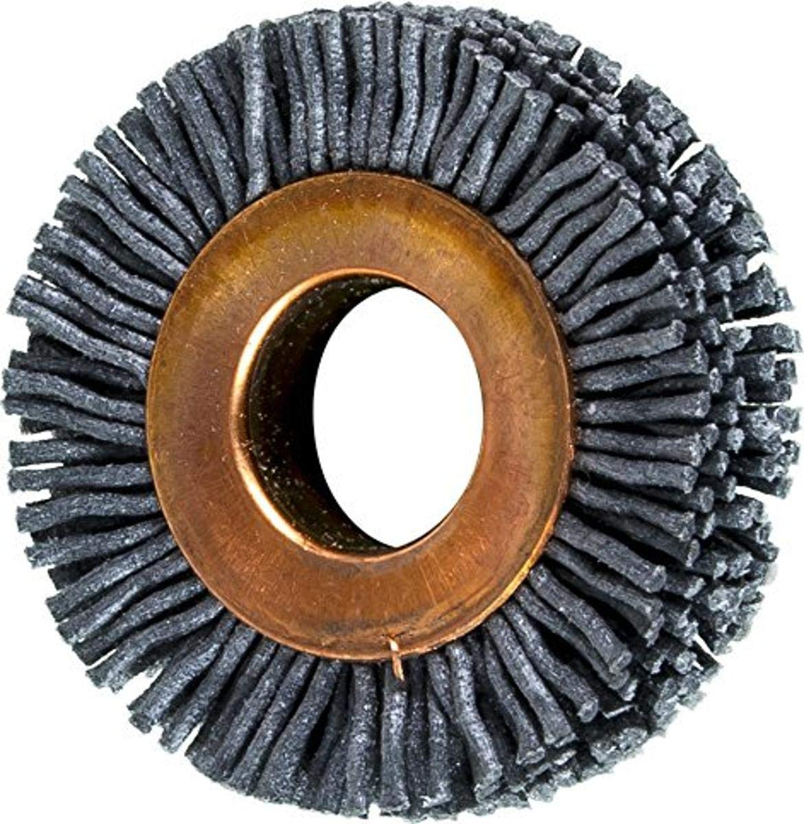 PFERD 83782 Small Diameter Copper Centre Abrasive Filament Wheel Brush, Silicon Carbide Grain (SiC), 1-1/2