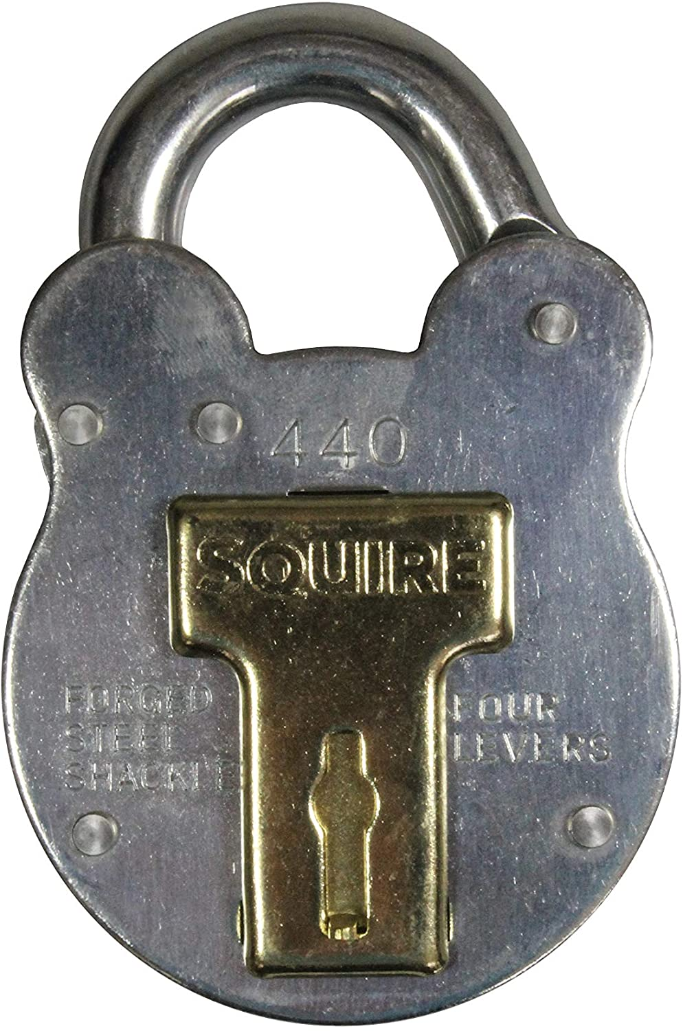 Squire 4-lever Galvanised Steel - Old English Padlock, 50mm