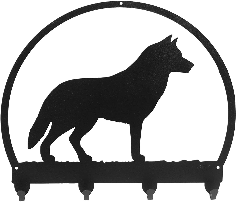 SWEN Products Siberian Husky Metal Key Chain Hanger - Leash Holder