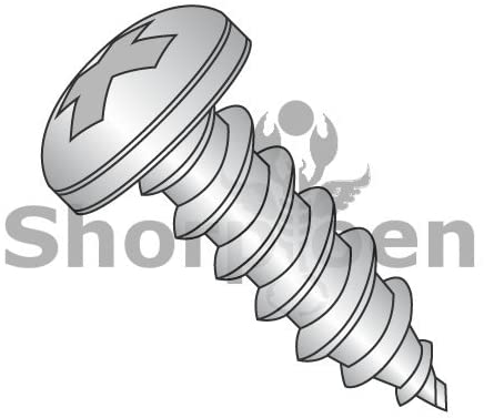 10-12X1/2 Phillips Pan Self Tapping Screw Type A Fully Threaded 18 8 Stainless Steel - Box Quantity 3000 by Shorpioen BC-1008APP188