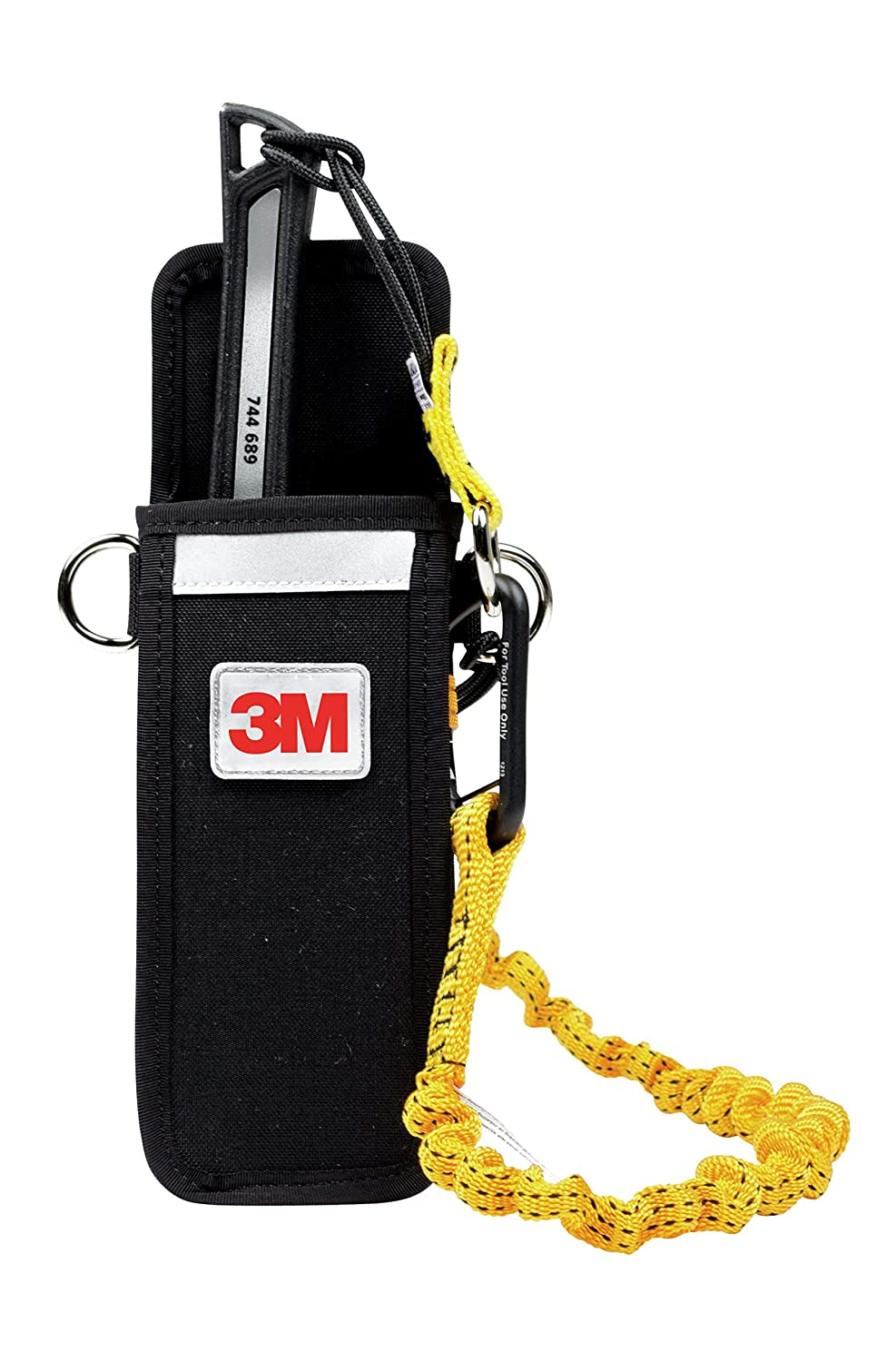 3M DBI-SALA Fall Protection For Tools, 1500105,Extra Deep Single Tool Holster For Larger Tools Attaches To Belt andLoaded w/Innovative Features