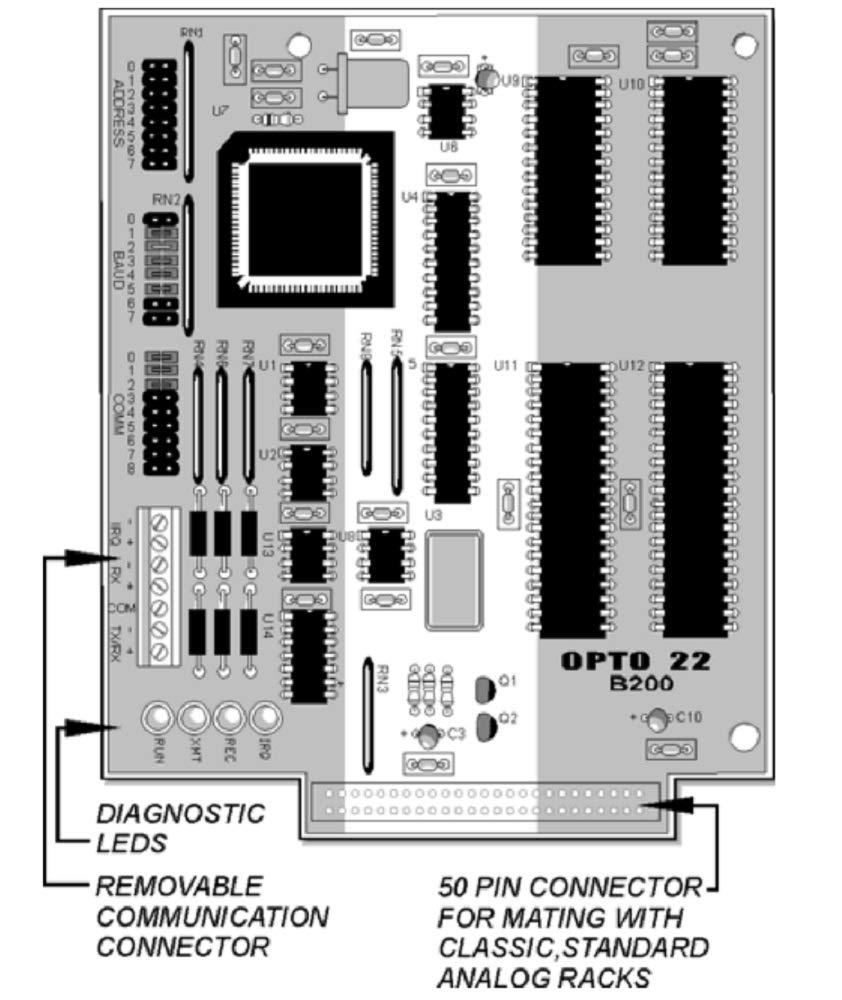 Opto 22 B200 G4B200 G4 16-Channel Analog Brain Board for Mistic Protocol Control
