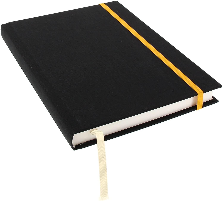 Goldbuch Notebook A5256Pages Chamois Lined 200 Blatt Chamois Black