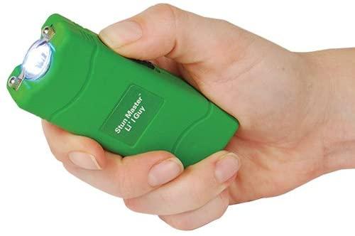 Powerful Li'l Guy 12 Million Volt Green Mini Stun Gun Flashlight