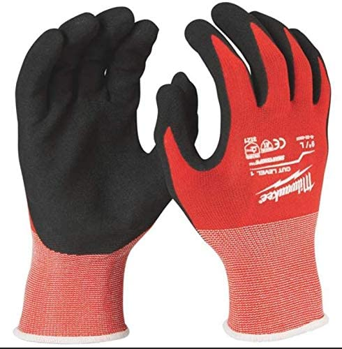 Milwaukee 48-22-8903 X-Large Nitrile Dipped Work Gloves, Red