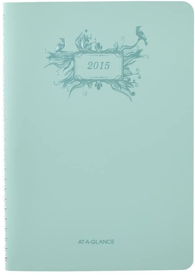 AT-A-GLANCE 772200 Poetical Weekly/Monthly Planner, 5 1/2 x 8 1/2, Green, 2016-2017