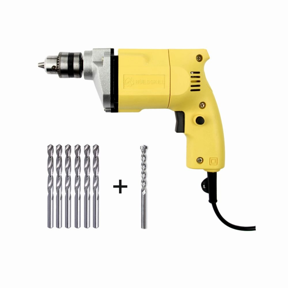 Buildskill Bed1100 220V Electric Drill And Bit (, 10-Pieces)