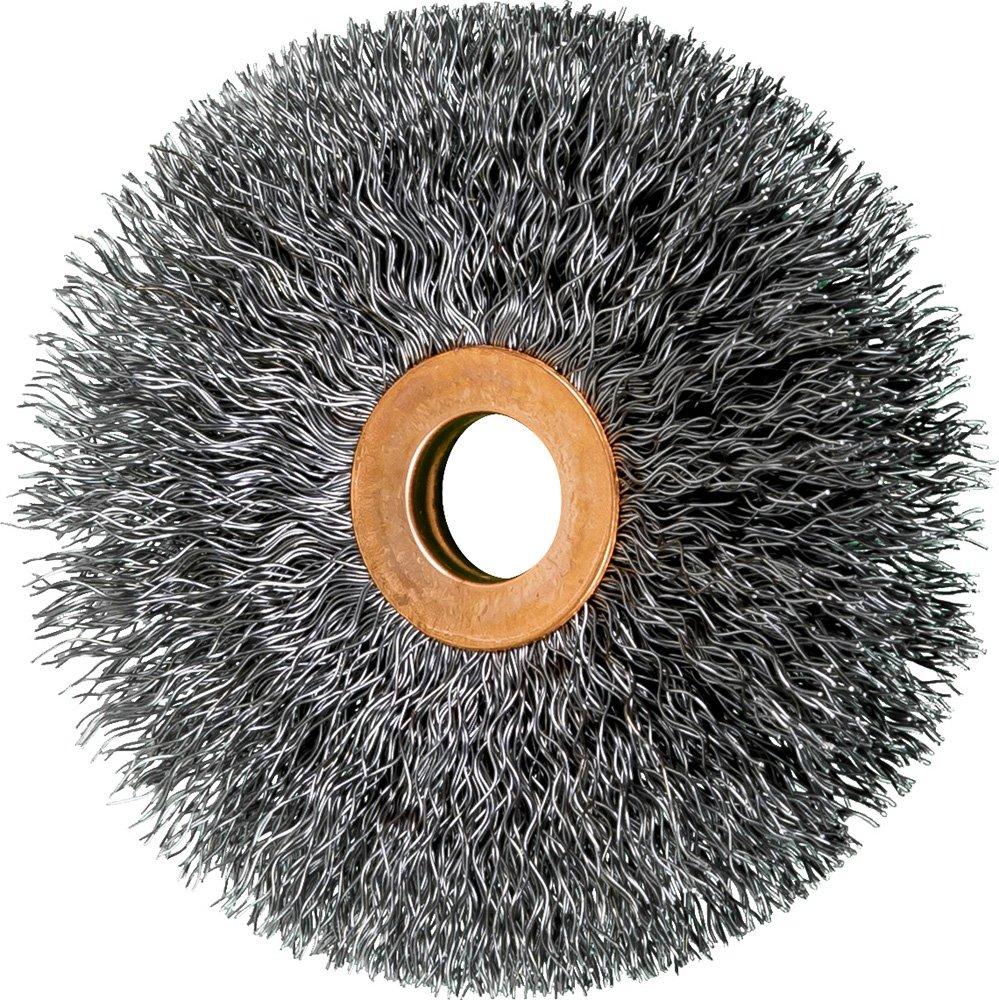 PFERD 81544 Crimped Wheel Wire Brush, Carbon Steel Wire, 3