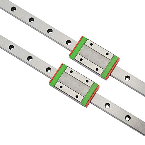 2Pcs MGN12 200mm(7.87in) Miniature Linear Rail Guide 2Pcs MGN12H Carriage Block for 3D Printer CNC Machine CNC Parts