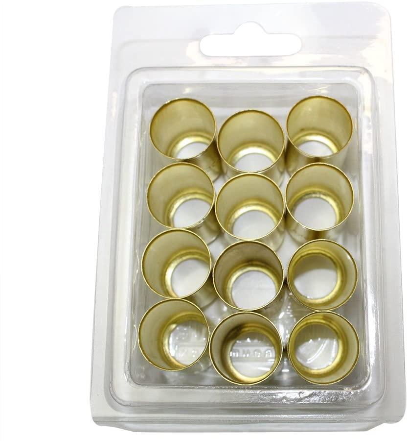 Interstate Pneumatics F7327-12 0.625 Inch Inner diameter x 1.0 Inch brass hose Ferrules 12 per pack