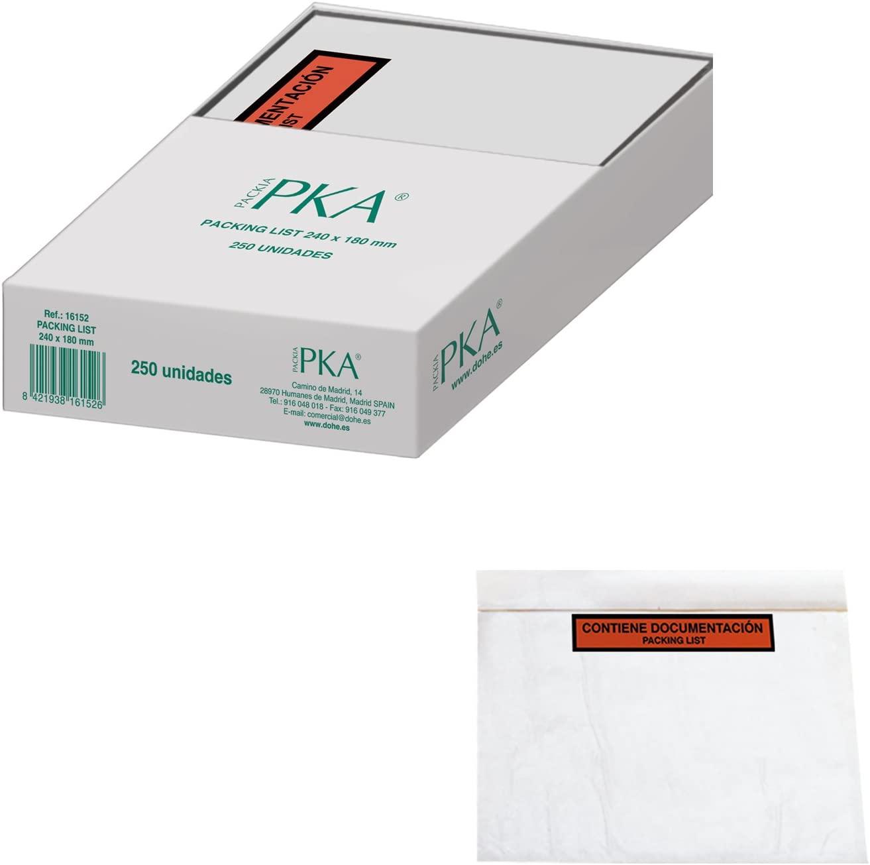 PKA Packing List Envelopes, 240x 180mm, Pack of 250