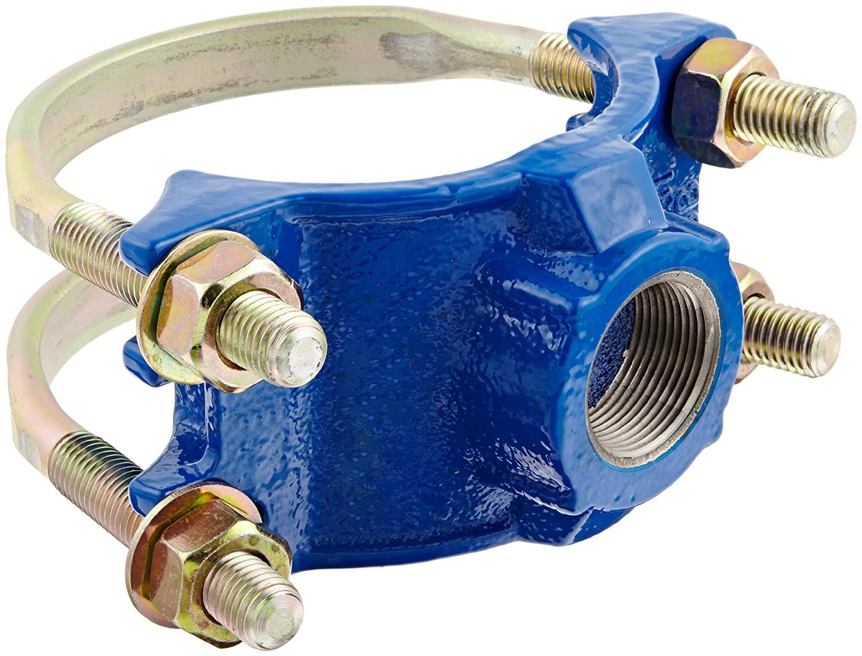 Smith-Blair Ductile Iron Saddle Clamp, Double Bale, 4