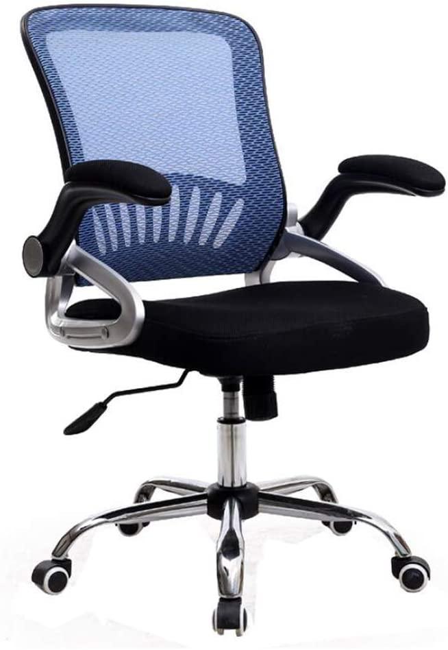 KMMK Desk Chairs,Ergonomic Office Chair Desk Chairs Mesh Computer Chair Lift Conference Chair Home Swivel Chair Adjustable Armchair Men Women Adults,Blue