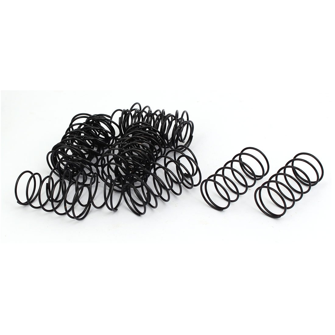 uxcell Compression Spring - 1.2mm Wire Dia, 20mm OD, 40mm Free Length Spring Steel Extension Spring,Black,20Pcs
