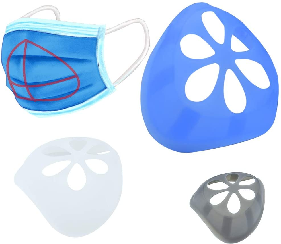 JB 3D Silicone Mask Bracket, Mask Support Breathing Assist Help,Mask Inner Cushion Bracket Mask Holder Hollow Breathable