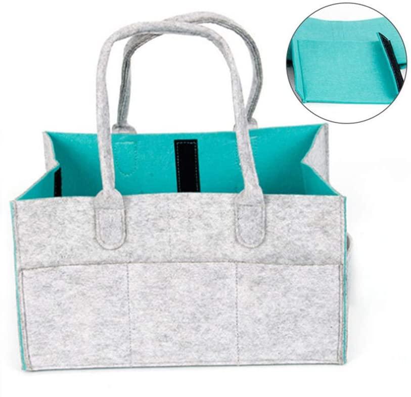 Large Firewood Basket Storage Felt Bag Shopping Grey Magazine Rack Basket Nursery Storage Bin with Handle for Carry Toys