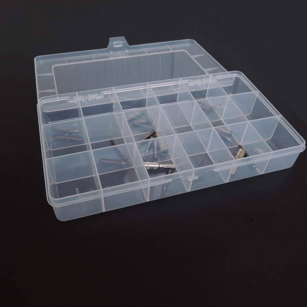 Plastic Toolbox Transparent Electronic Component Storage Box Casket Metal Parts Screw Container DIY Tool