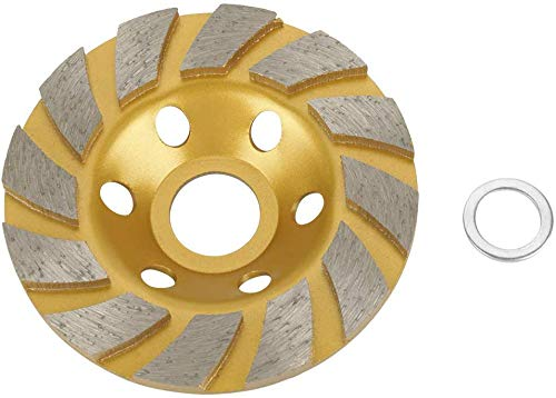 4-Inch Concrete Turbo Diamond Grinding Cup Wheel for Angle Grinder 6 Segs Heavy Duty,Yellow (1 Pack)