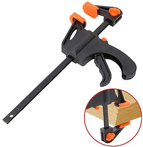 Ochoos New 4 Inch Wood-Working Bar Clamp Quick Ratchet Release Speed Squeeze DIY Hand Tools Stainless Steel F Clamp
