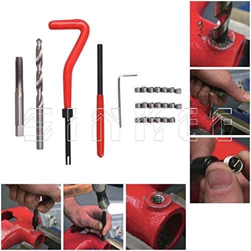 Engine Care 25 Pcs Thread Repair Recoil Insert Kit Drill Tap M5 X 0.8 Sk1051-1