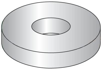 M6 DIN 125A Flat Washers A2 Stainless Steel (Quantity: 100 pcs) - OD: 12.5mm, Thickness: 1.6mm