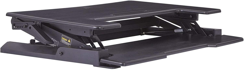 Office Star Multi-Position Adjustable Desk Riser with Dual Lift, Black