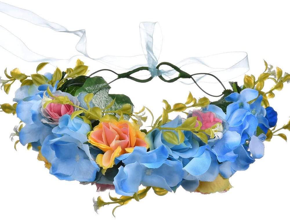 Hair Hoop Card Issuance Hair Ring Outdoor Women S Flower Garland Crown Summer Artificial Flower Headband Headpiece Headwear Hair Accessories-002