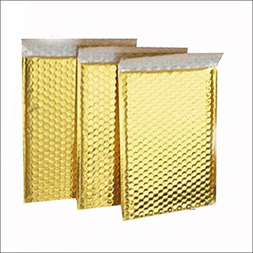 ProLine Metallic Gold Bubble Padded Shipping Mailers 8.5x12 Inch Self Seal Padded Envelopes (25)
