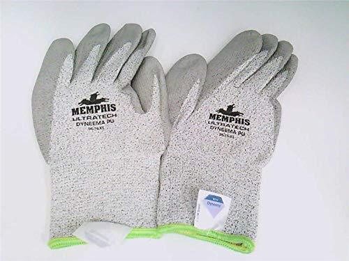 MEMPHIS GLOVE 9676XL-GREY-PAIR Glove, Ultra TECH DYNEEMA String Knit Glove, Size XLarge, Pair, Grey