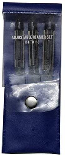 ADJUSTABLE EXPANDING HAND REAMER 3 PIECE SET 3/8