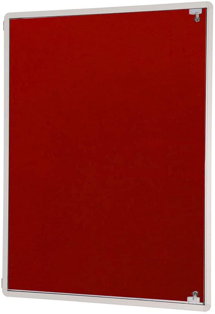 Spaceright Europe 120 x 90 cm Flame Shield Side Hinged Tamperproof Single Door - Red