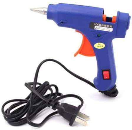 20w Mini Electric Heating Hot Melt Glue Gun w/ 10 PCS Glue Sticks