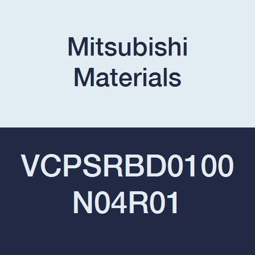 Mitsubishi Materials VCPSRBD0100N04R01 Series VCPSRB Carbide Miracle End Mill, Short Flute, High Precision, Radius Shape, 2 Flutes, 1 mm Cutting Dia, 0.1 mm Corner Radius, 1 mm LOC, 4 mm Neck Length