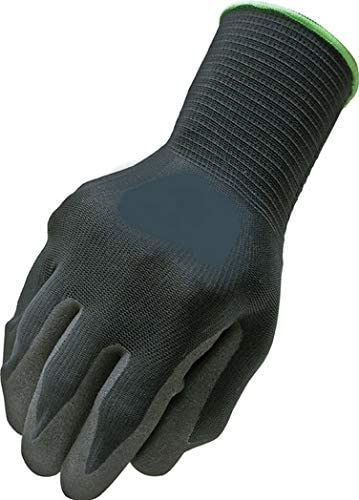 Northstar Tactigrip General Purpose Polymer Coated Gloves Size 11 for 200+ Pound Weight, Black Collar