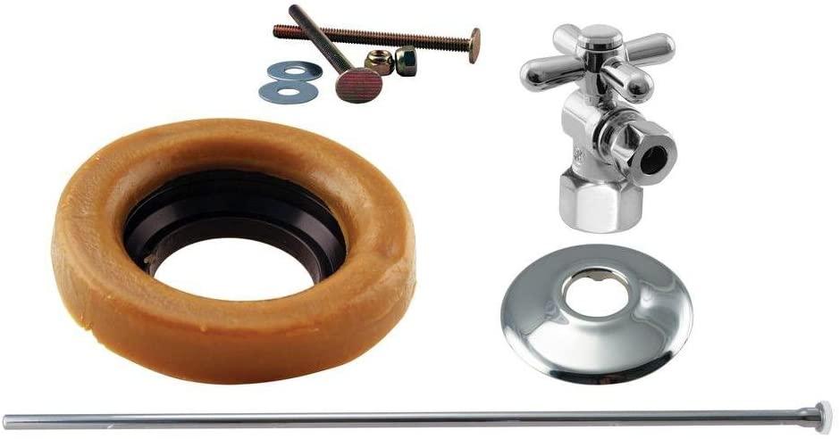 Westbrass Toilet Installation Kit with 1/4-Turn 1/2