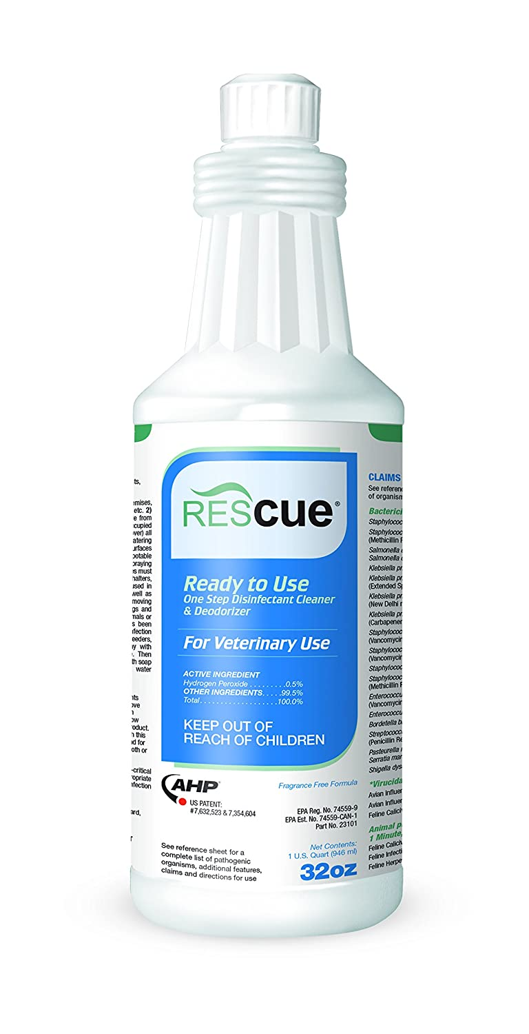 Rescue RTU One-Step Disinfectant Cleaner & Deodorizer, 32 oz. Squeeze Bottle (12 Pack)